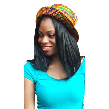 African Kente Print Hat for Ladies
