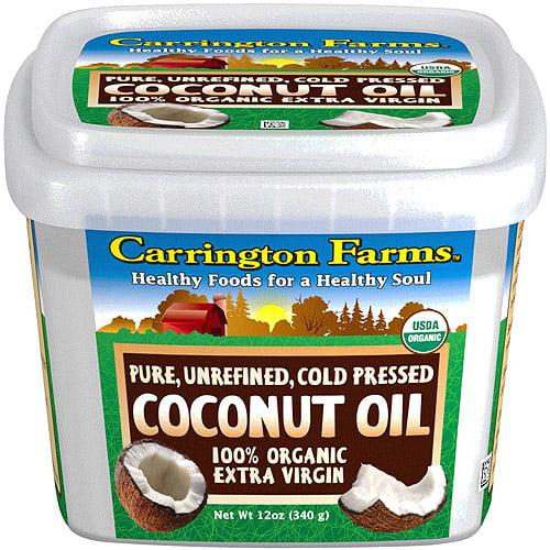 Carrington Farms 100% Organic Extra Virgin Coconut Oil, 12 oz