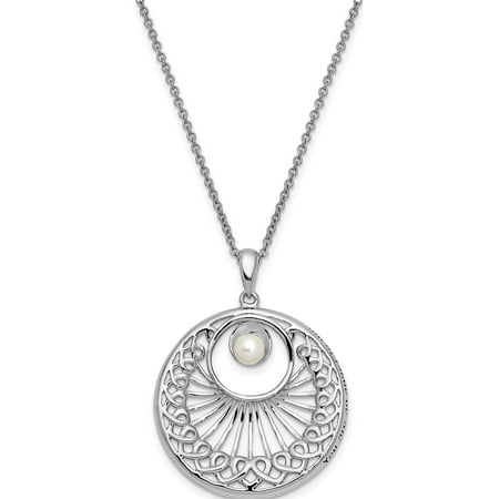 Sterling Silver Antiqued FW Cultured Pearl You Are An Angel To Me 18in Neck - image 6 de 6