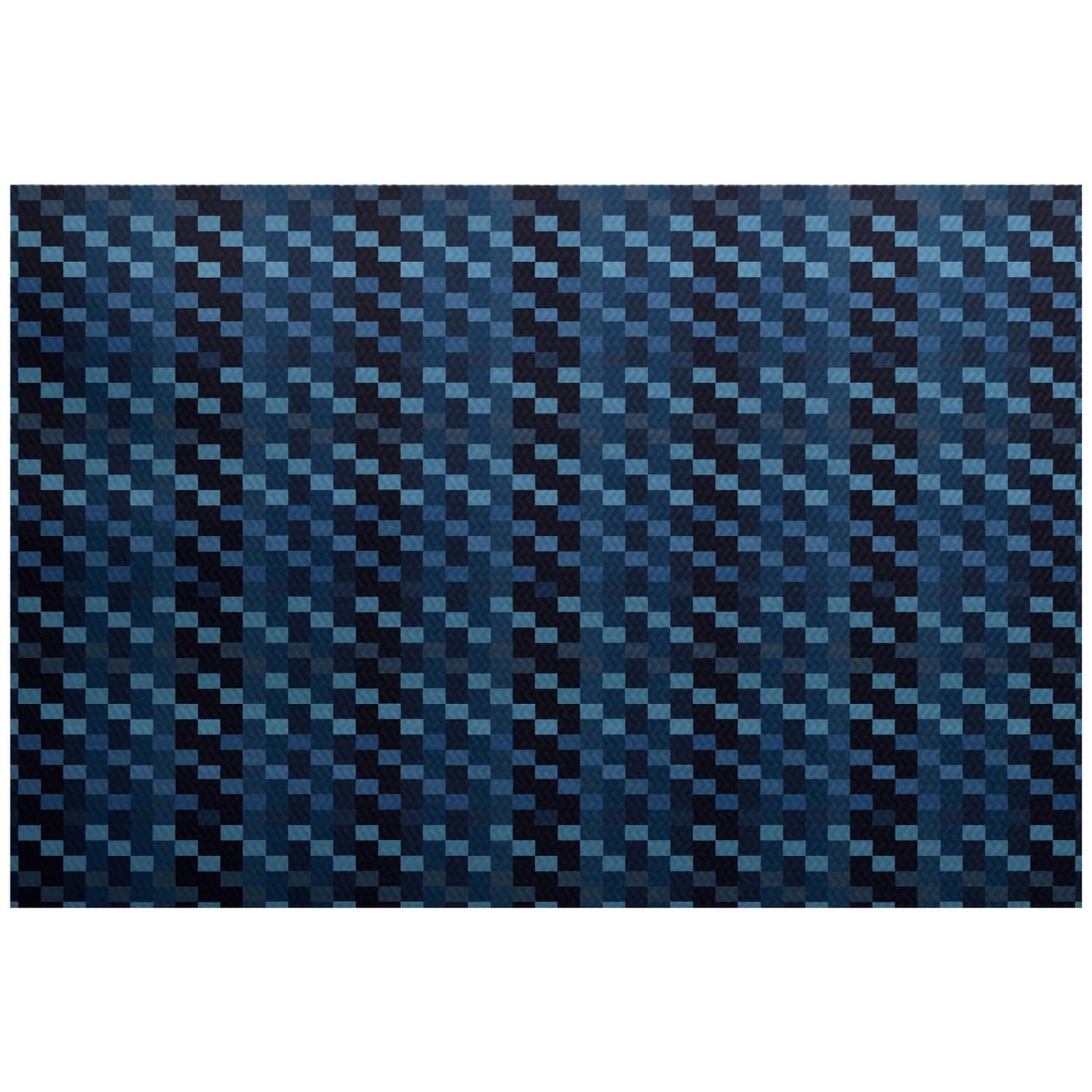 Simply Daisy 3' x 5' Mad for Plaid Geometric Print Indoor/Outdoor Rug