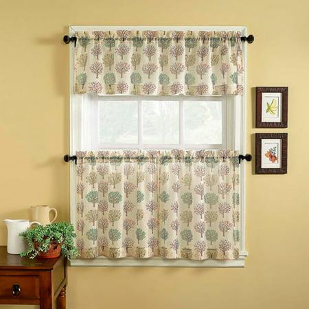 chf you orchard kitchen curtains set of 2. Black Bedroom Furniture Sets. Home Design Ideas