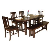 Plymouth 6-Piece Solid Wood Dining Set - Cappuccino