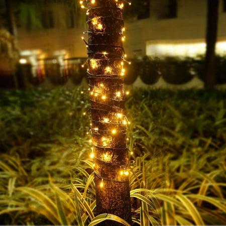 100 LED Twinkle Fairy Light String 33 Feet 8 Modes White/Warm White & Tail Plug Holiday Decoration ()