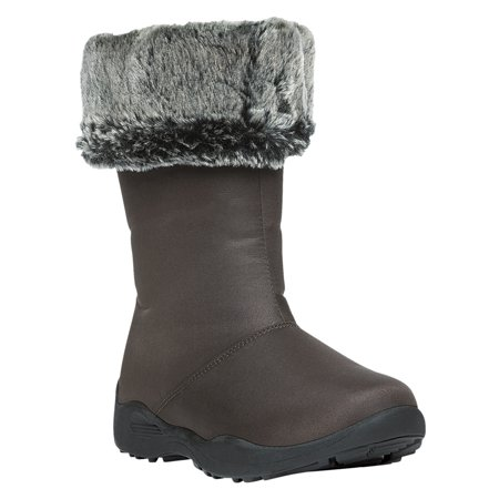 Propet Womens Madison Tall Waterproof Zip Boots Brown 7 W