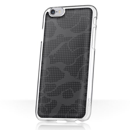 Ghost Apple - goo.ey Distinct Life Cell Phone Hands Free Case with Suction Function for Apple iPhone 6 6s - Black Ghost Camouflage