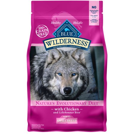 Blue Buffalo Wilderness High Protein Grain Free, Natural Adult Small Breed Dry Dog Food, Chicken 4.5-lb