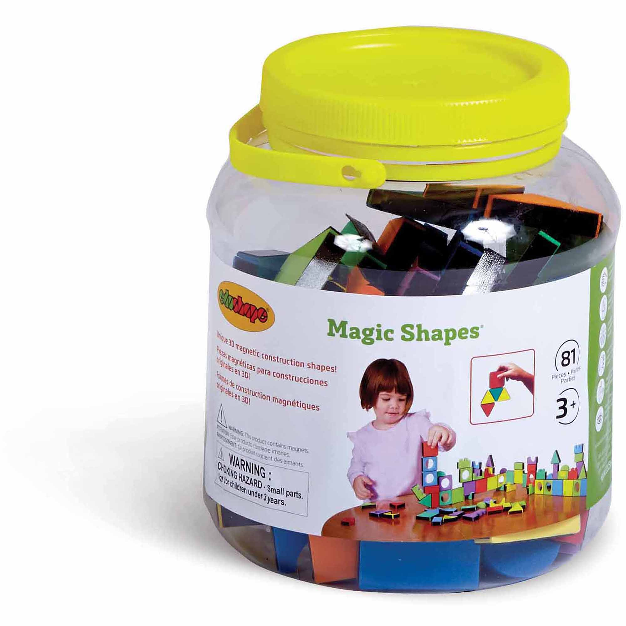 Magic Shapes, 81 Pieces, Jar