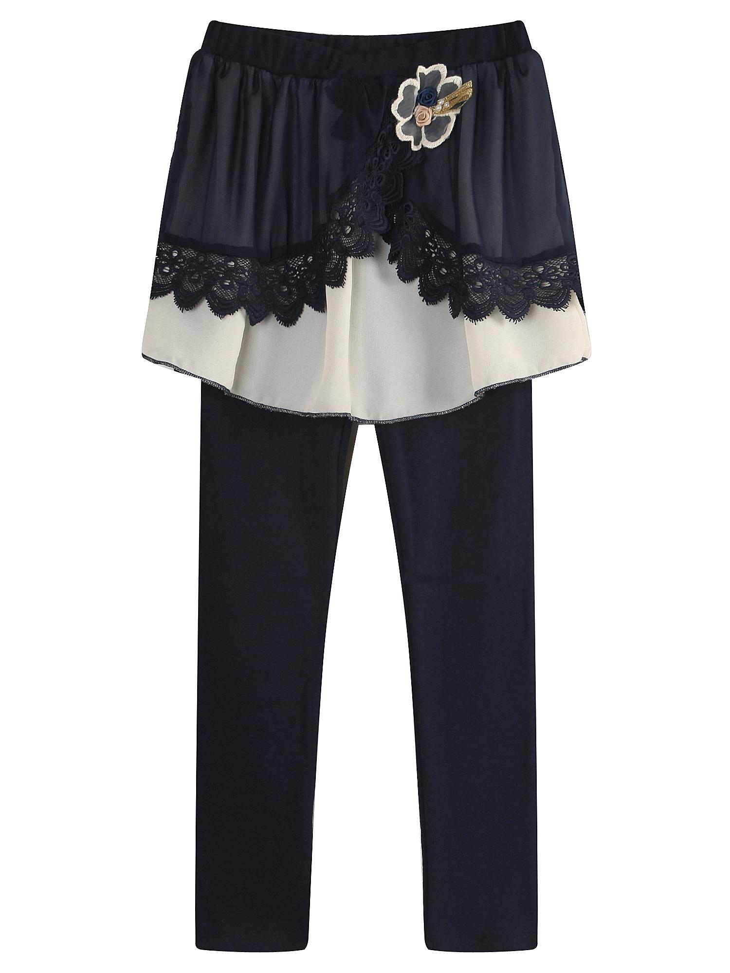 Richie House Girls' Knit Leggings with Skirt RH1623