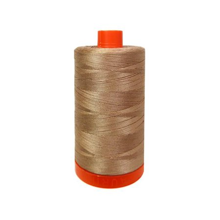 Aurifil Ctn Thread Mako 50wt 1300m Cafe au - Aurifil Quilting Thread