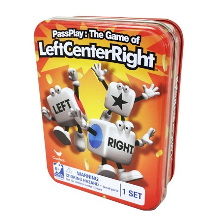 Pass Play: The Game of Left Center Right Dice Game in a Tin - Halloween Games To Play In Pe
