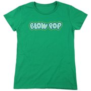 Tootsie Roll Blow Pop Logo Womens Short Sleeve Shirt