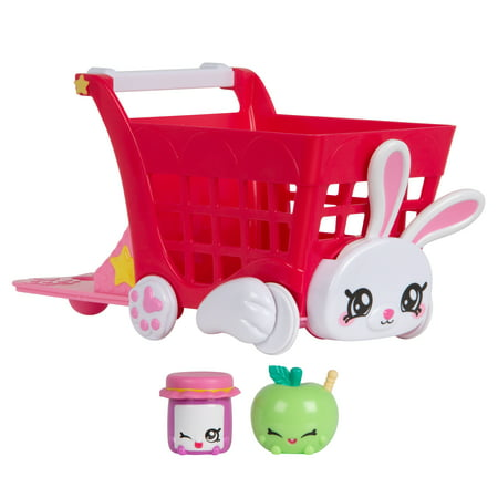Kindi Kids Kindi Fun Shopping Cart Kindi Kids Kindi Fun Shopping Cart. Come inside Rainbow Kindi, a place where every day is about playing and making friends, as the Kindi comes to life! Rainbow Kindi is full of playful personalities like me, the Kindi Fun Shopping Cart! Place one of the Kindi Kids on my back and fill me up with the happiest Shopkins around! I'm the perfect size for all the Kindi Kids, so that they can ride me around Rainbow Kindi! Push me along and see me come to life! I'll make you giggle as you see my bunny ears bobble and paws walk! I come with 2 Exclusive Shopkins, a cute Apple Shopkin and D'lish Jar of Jam! Ride me over to the Rainbow Kindi's Supermarket Playmat and zoom me along the pathways! There is so much to do and check out! Come and share a cart load of cuteness to discover the wonderful world of Kindi Kids!
