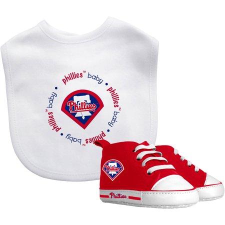 Baby Fanatic Mlb Velcro Closure Bib And High Top Pre Walker Set  Philadelphia Phillies