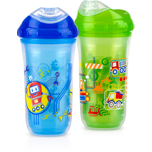 Nuby 2-Pack 9-oz Insulated Cool Sipper, Boy, BPA-Free