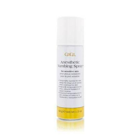 GiGi Anesthetic Numbing Spray for Sensitive Skin - Lidocaine-Based Gel, 1.5 oz