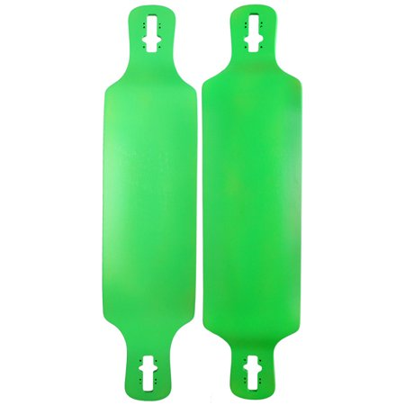 Longboard Deck Double Drop Down Through 9.75 x 41.25 Neon Green Concave