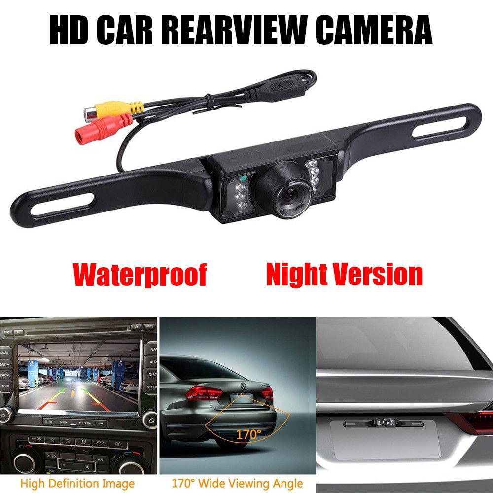 170° Waterproof 7LED Night Vision HD Car Rear View Backup Reverse Parking Camera