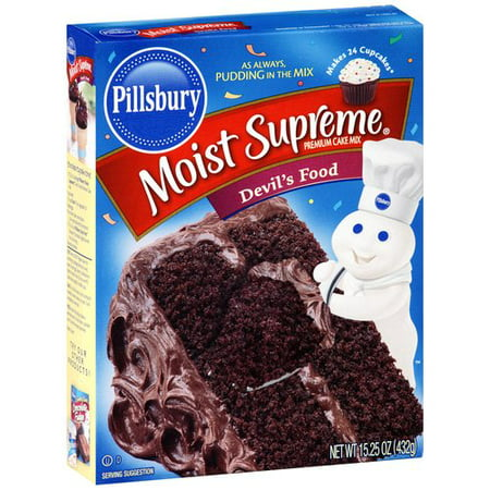 (5 Pack) Pillsbury Moist Supreme Premium Devil's Food Cake Mix, 15.25 oz - Halloween Wars Cakes Food Network