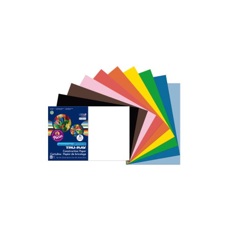 Pacon Construction Paper Assorted Colors 12