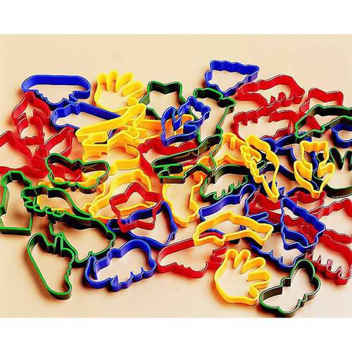 """Chenille Kraft Clay Cutter Set, 2.5"""", Plastic, Assorted Colors, Set of 48"""