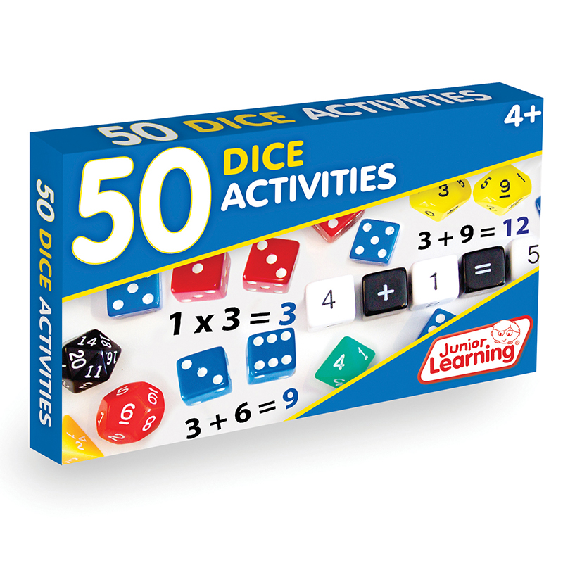 Junior Learning - 50 Dice Activities Learning Game
