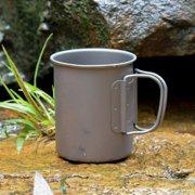5set Houkiper Outdoor Titanium Cup Mug Cup, Titanium Pots Durable, Portable, Lightweight, Tableware Camping Cup Picnic Water Cup Mug of Coffee Tea