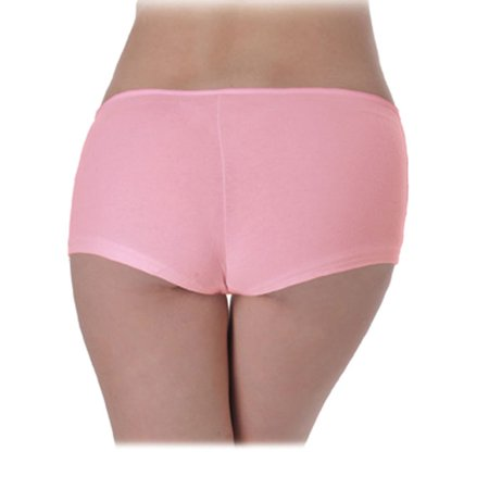 Spandex Stretch Bib - Pink Low-Rise Stretch Spandex Boy Short Panty Underwear