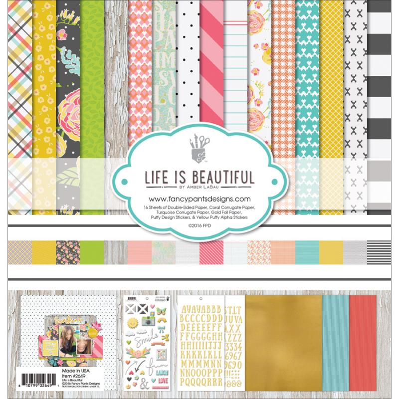 "Fancy Pants Designs Collection Kit, 12"" x 12"", Life Is Beautiful"
