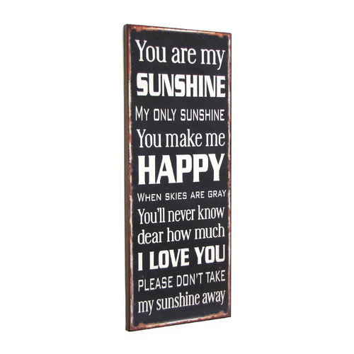 Wilco Home ''You Are My Sunshine'' Textual Art