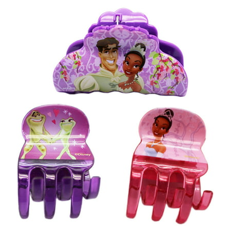 Disney's The Princess and the Frog Short and Normal Size Jaw Clips (3pc)