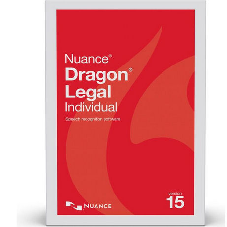Nuance A509A-G00-15.0 Dragon Legal Individual Version 15 Speech Recognition Software