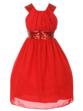 3786274e6a0f ... by Sophias Style Boutique Inc. Product Image Cinderella Couture Little  Girls Red Dazzling Sequin Pleated Dress