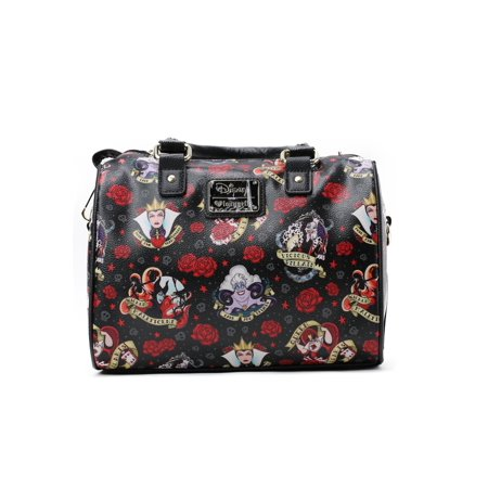 41d03618e26 Loungefly - Disney Villains And Roses Faux Leather Handbag - Walmart.com
