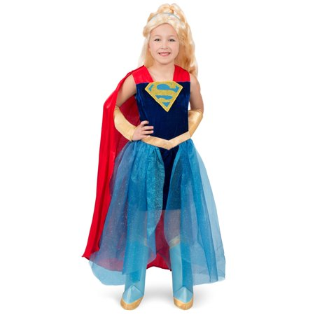 Dc Super Hero Girls Supergirl Formal Halloween Costume Dress - Supergirl Costume Girls