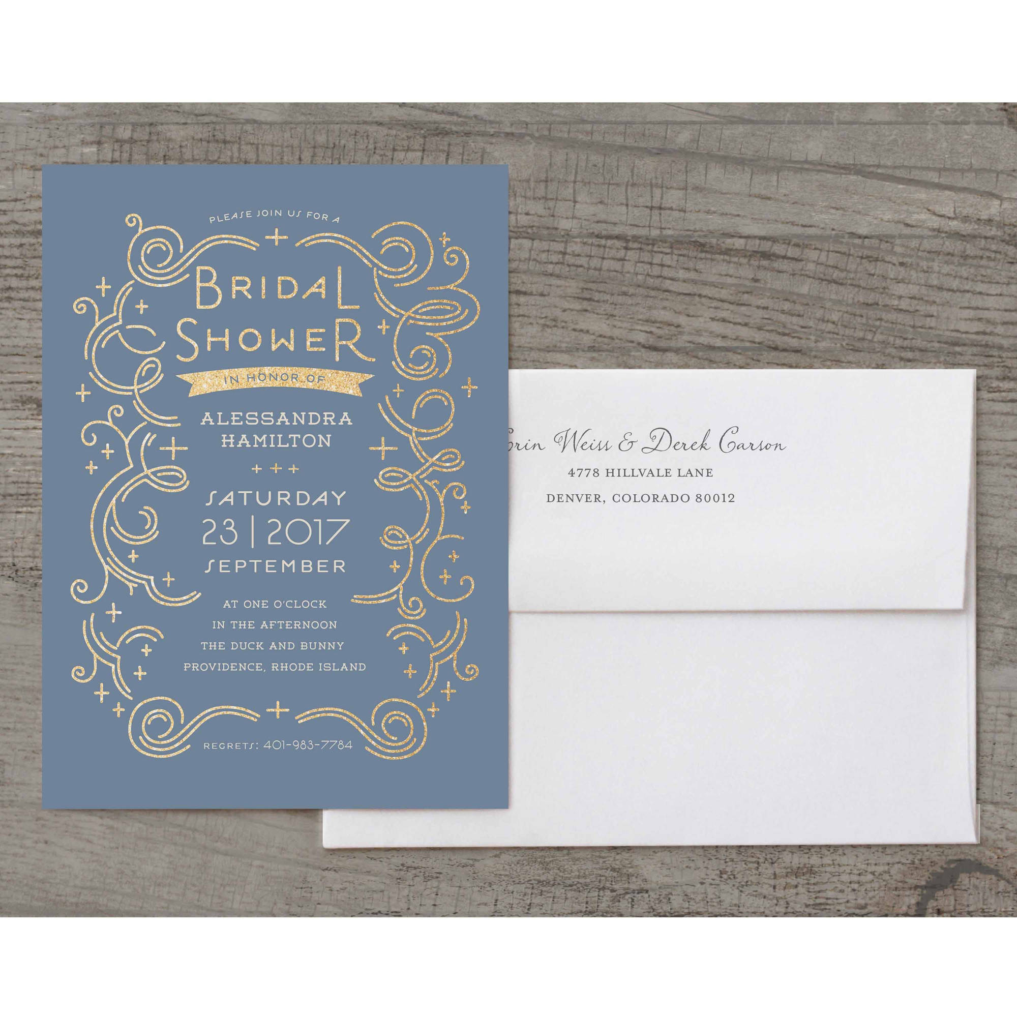 Glamorous Bride Deluxe Bridal Shower Invitation
