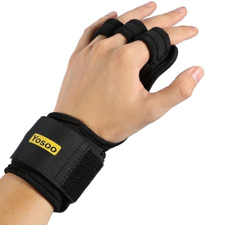 Breathable for Pull Ups, Cross Training, Fitness, WODs & Weightlifting Pull Up Gloves (Pair) with Wrist Wraps Suits for Male/Female by -