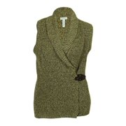 Charter Club Women's Marled Metallic Vest Sweater