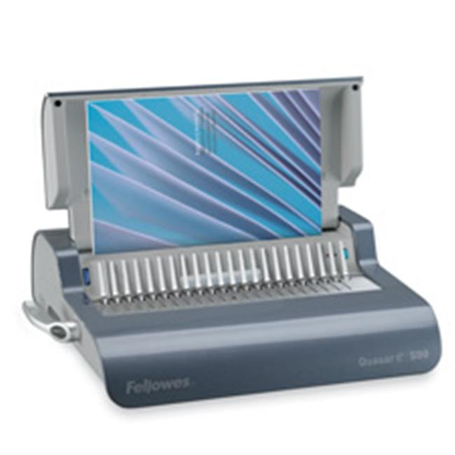 Electric Comb Binding Machine- 16-.88in.x15-.38in.x5-.13in.- Gray by SuiteX
