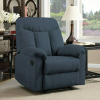 ProLounger Wall Hugger Microfiber Montero Back Recliner Chair (Blue)