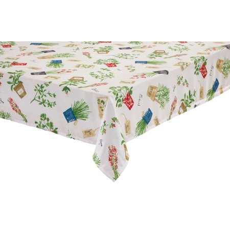 Potted Herbs Tablecloths By Oakridgetm Kitchen Gallery 60 X 120 Oblong