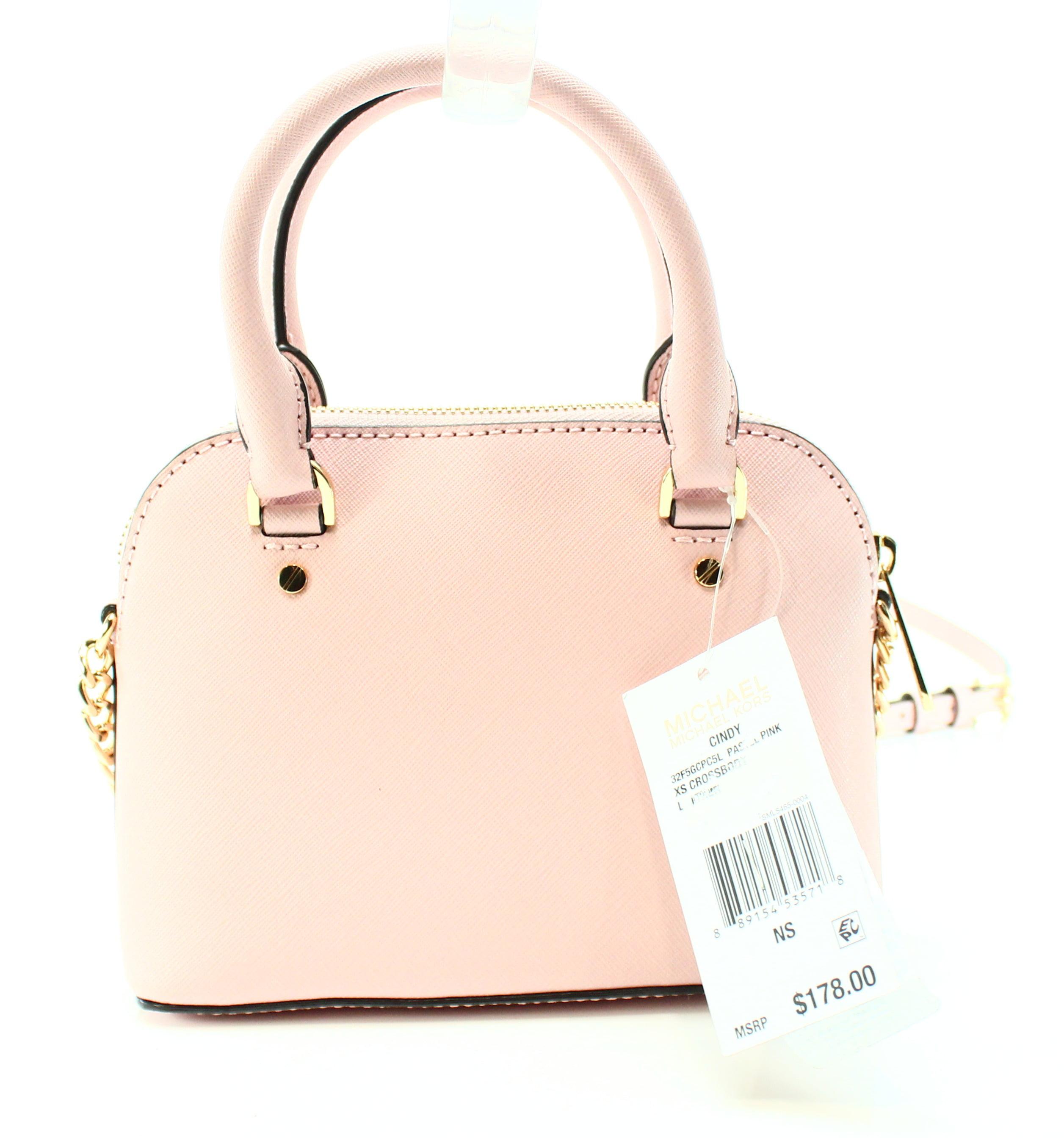 dcc50aed3366 ... usa michael kors michael kors new pastel pink saffiano cindy mini  crossbody bag purse walmart e1419