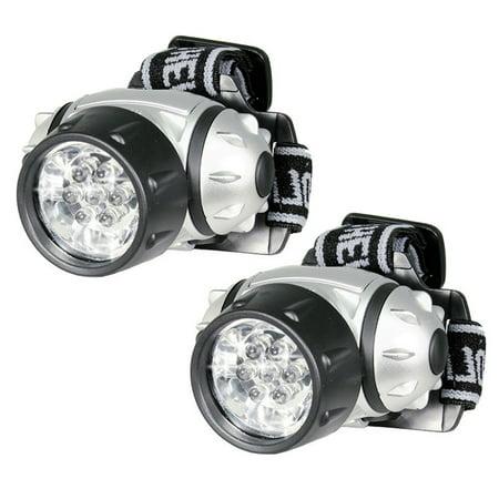 LESHP Hands Free 7 LED Adjustable Head Strap Super Bright Head Lamp Pivoting Light