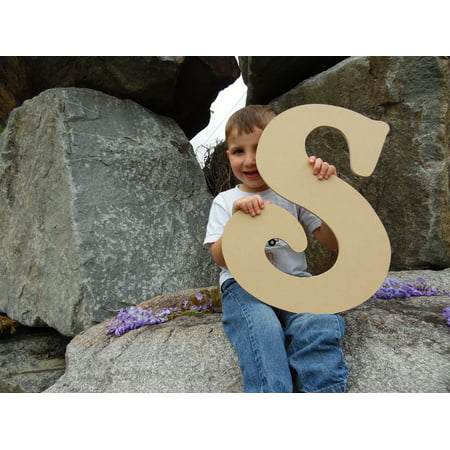 Wooden Letter (S) Unfinished 6'' Wood Craft Letter, Paintable - Unfinished Wood Craft Supplies