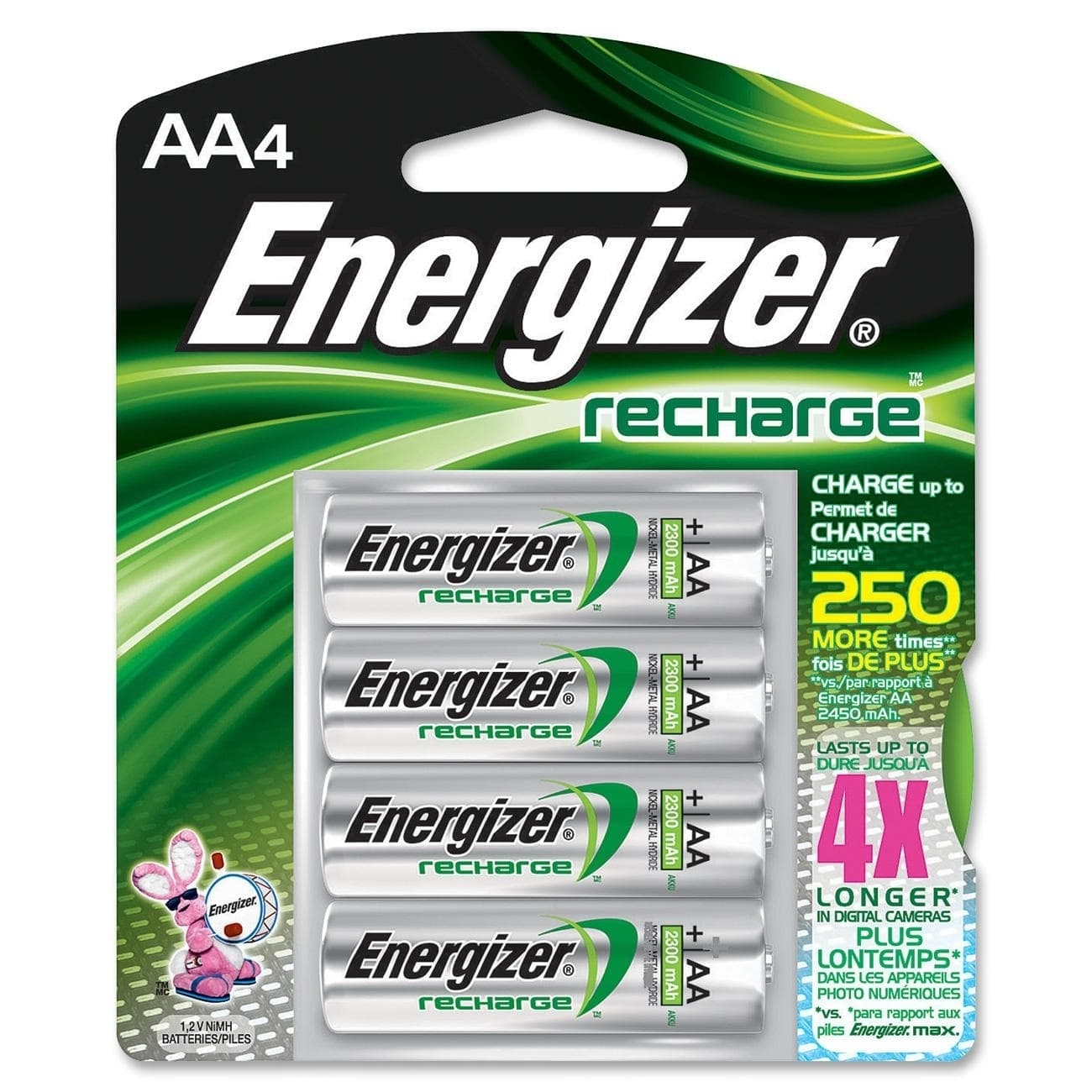 Energizer Rechargable AA Batteries, 4 Count