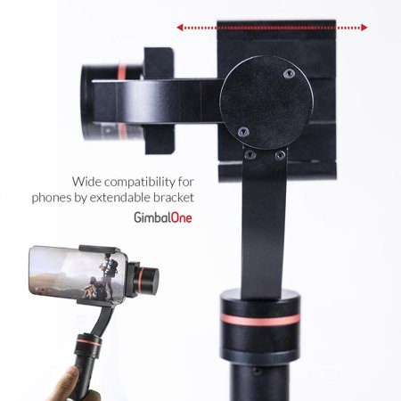 GimbalOne Smartphone Compact Steadicam 3-Axis Handheld Stabilizer Gimbal - Cinematic, Smart Motion Filming for All Smartphones Upto 7-Inches - image 7 de 9