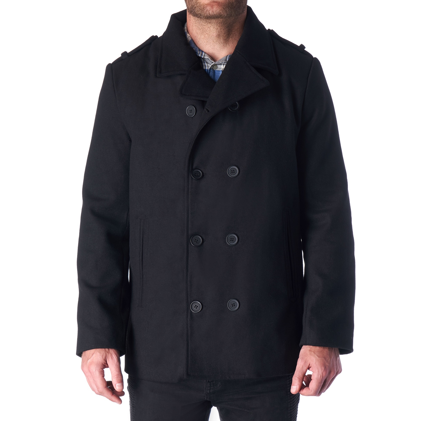 Hammer Anvil Bryce Mens Wool Blend Double Breasted Peacoat Dress Jacket Pea Coat