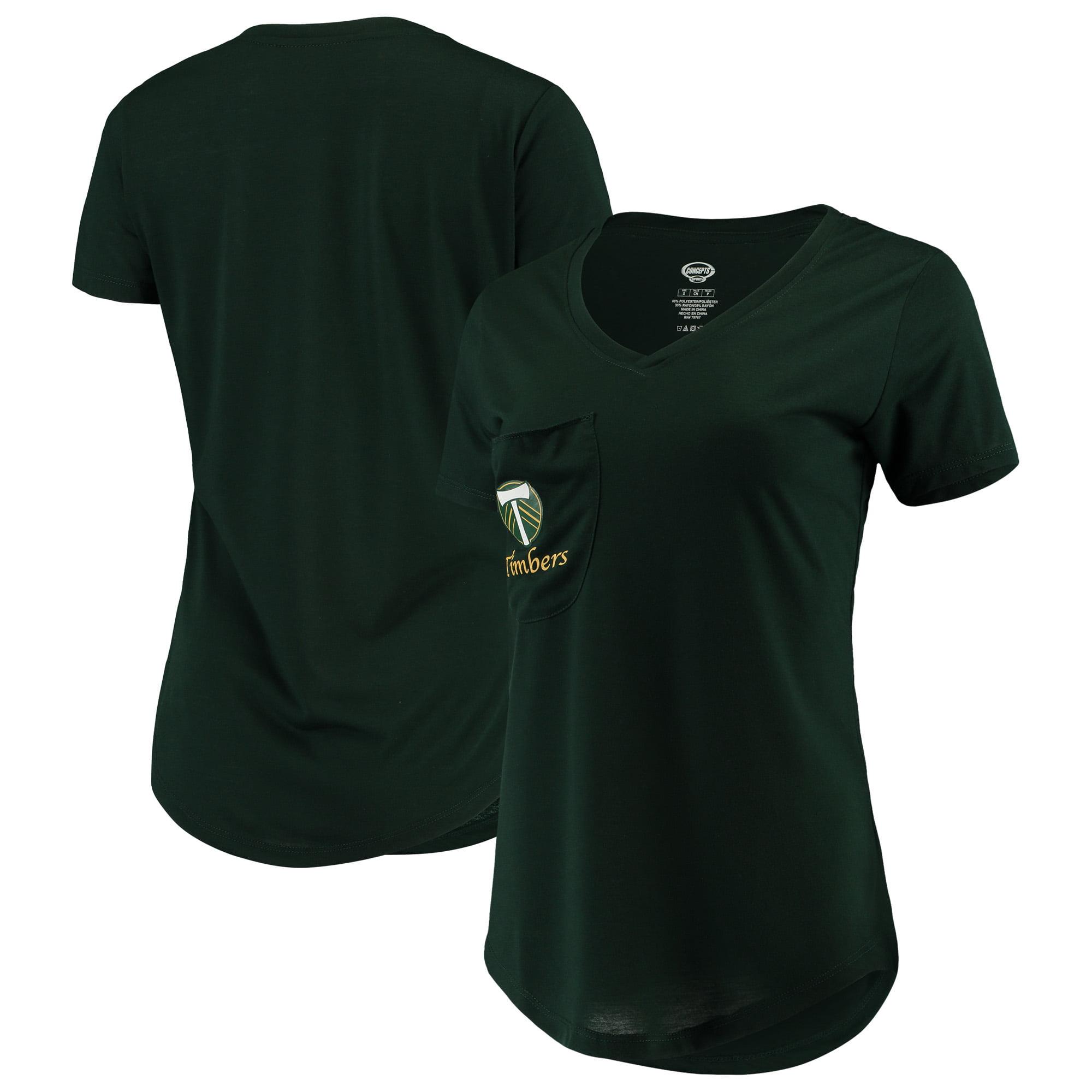 Portland Timbers Concepts Sport Women's Unwind Pocket V-Neck T-Shirt - Green