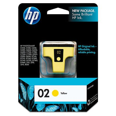 - HP 02, (C8773WN) Yellow Original Ink Cartridge