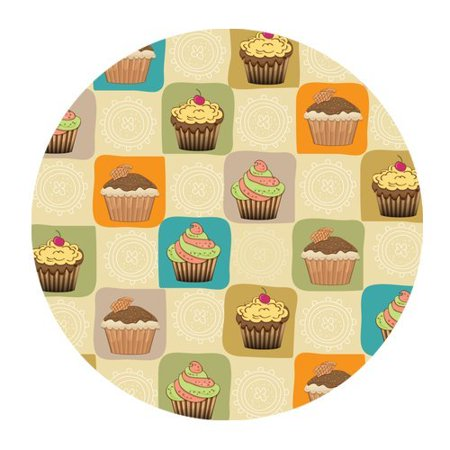 Vintage Ice (MKHERT Vintage Design Ice Cream Cakes Mini Cake Round Mousepad Mat For Mouse Mice Size 7.87x7.87 inches )