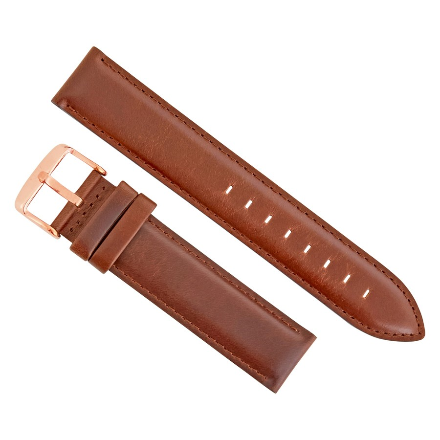 Daniel Wellington Classic St. Mawes 20 MM Brown Leather Watch Band Strap DW00200107
